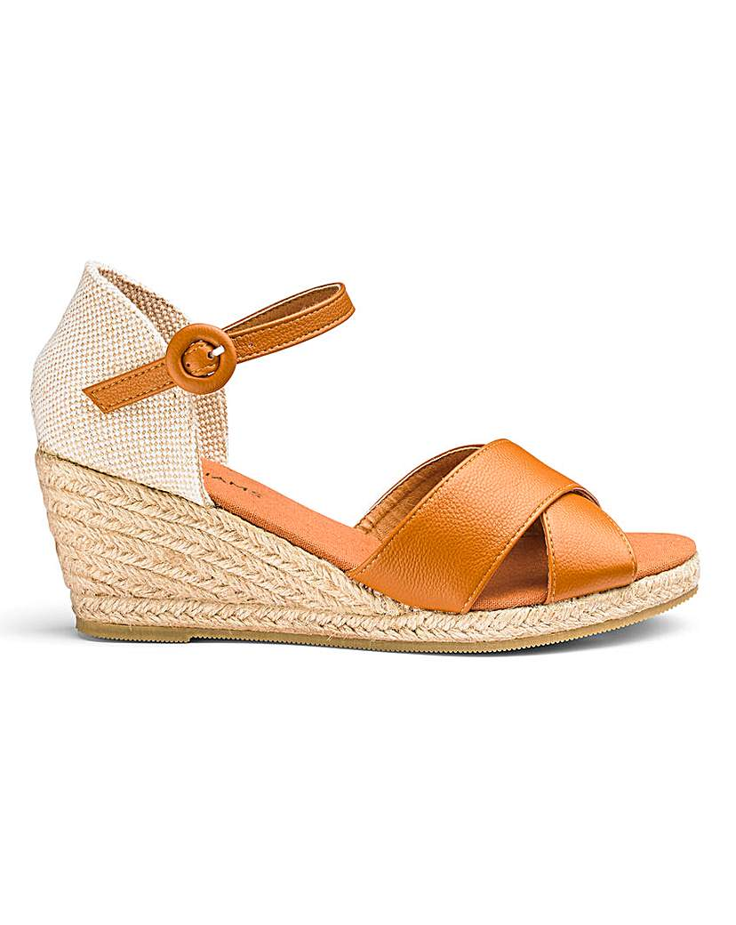 Wedge Espadrille Sandals EEE Fit