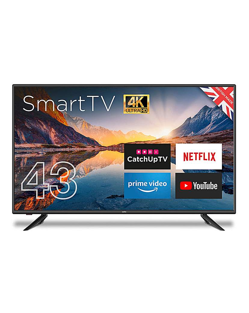 Cello 43in Smart 4K Ultra HD LED TV