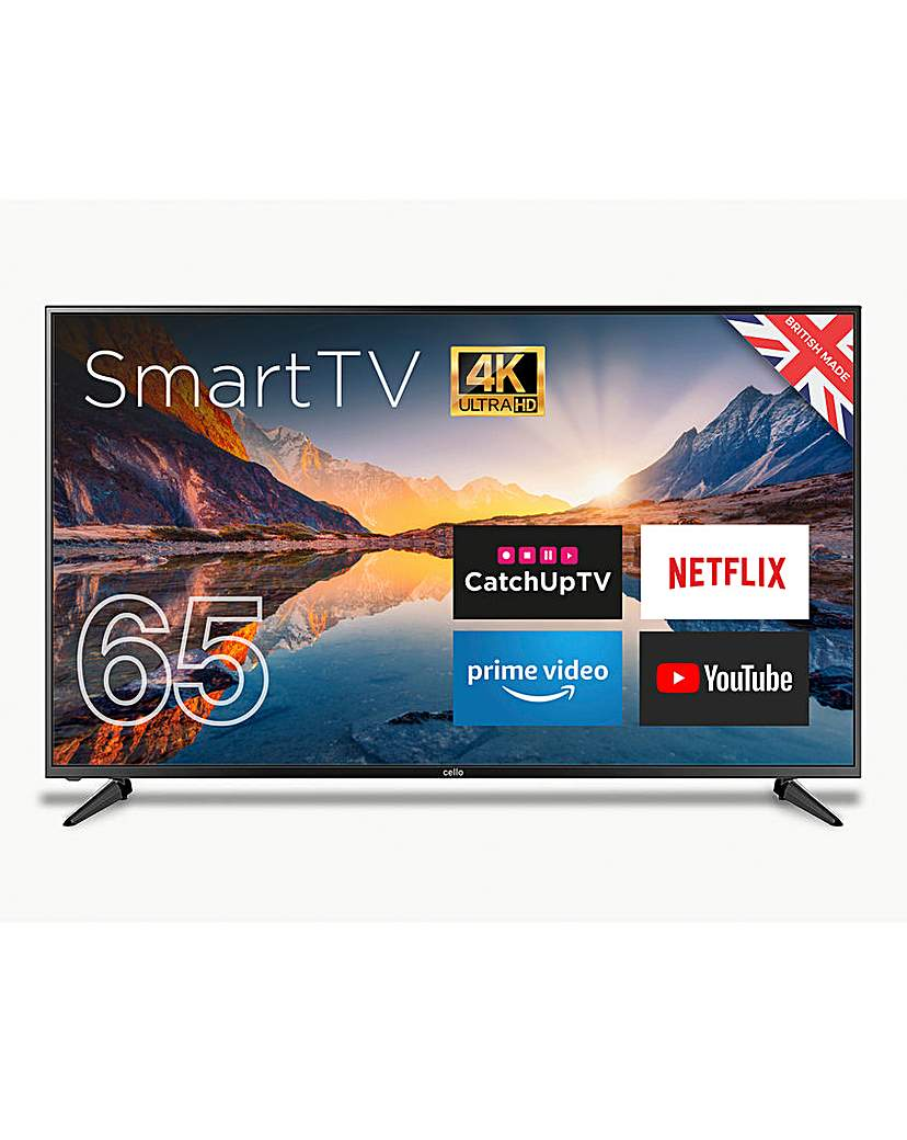 Cello 65 Smart 4K LED TV with Freeview