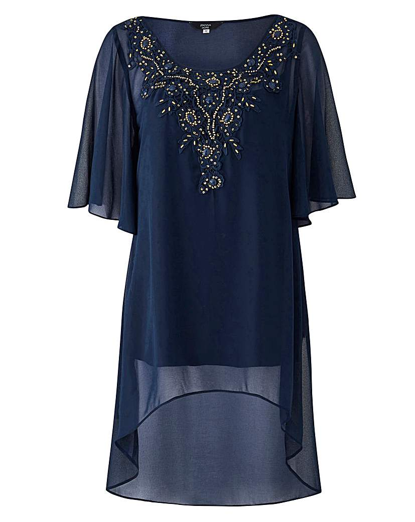 1920s Style Blouses, Tops, Sweaters, Cardigans Joanna Hope Lace Detail Tunic £39.50 AT vintagedancer.com