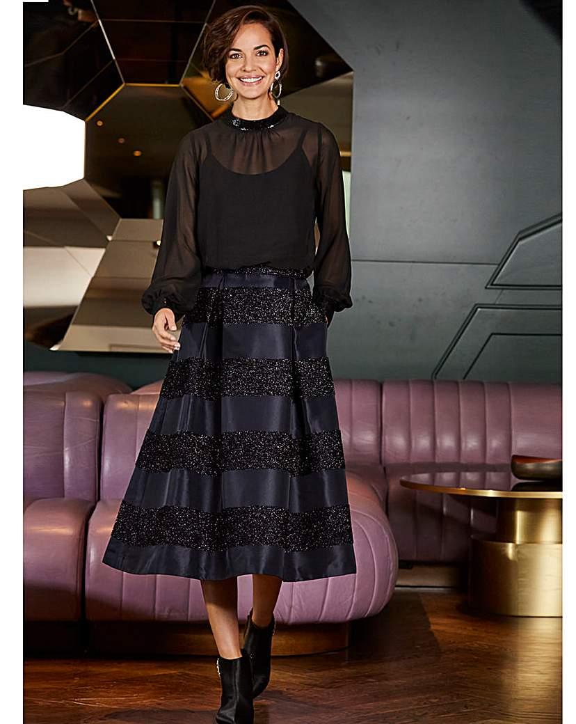 Joanna Hope Stripe Prom Skirt