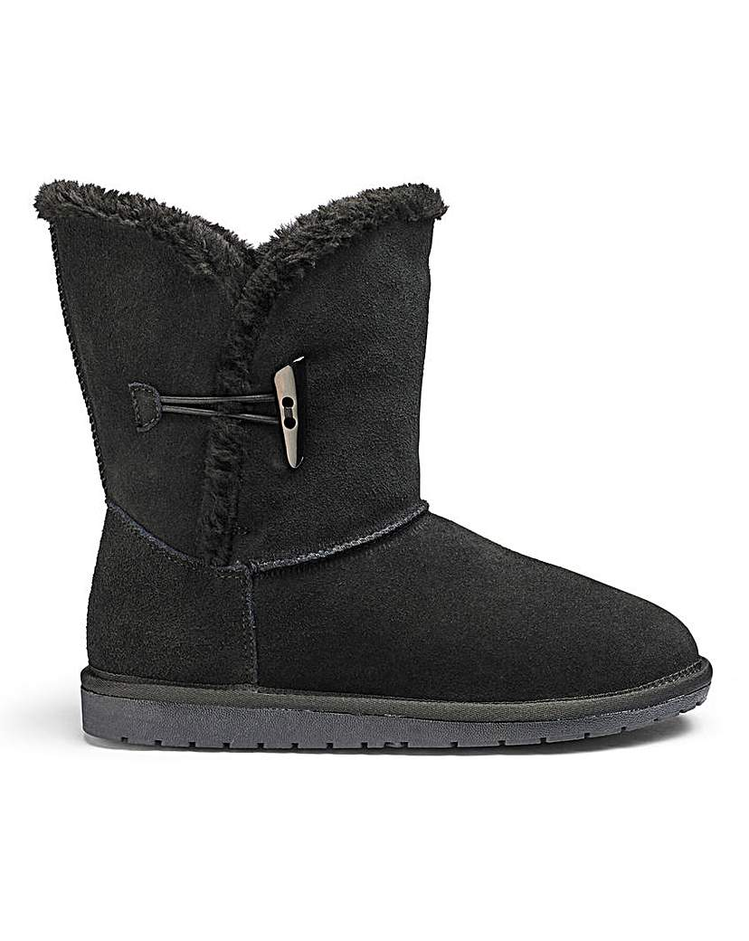 JDW Suede Ankle Boots EEE Fit