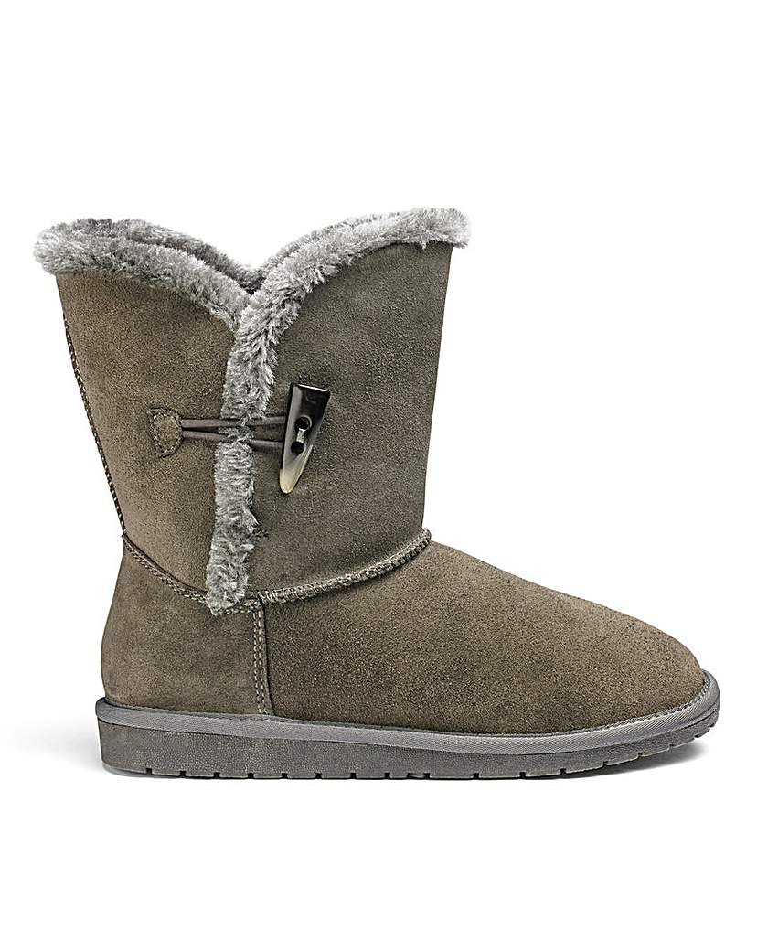 JDW Suede Ankle Boots E Fit