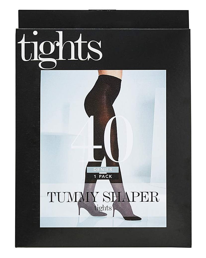 Magisculpt 40 Den Blk Tummy Shape Tights