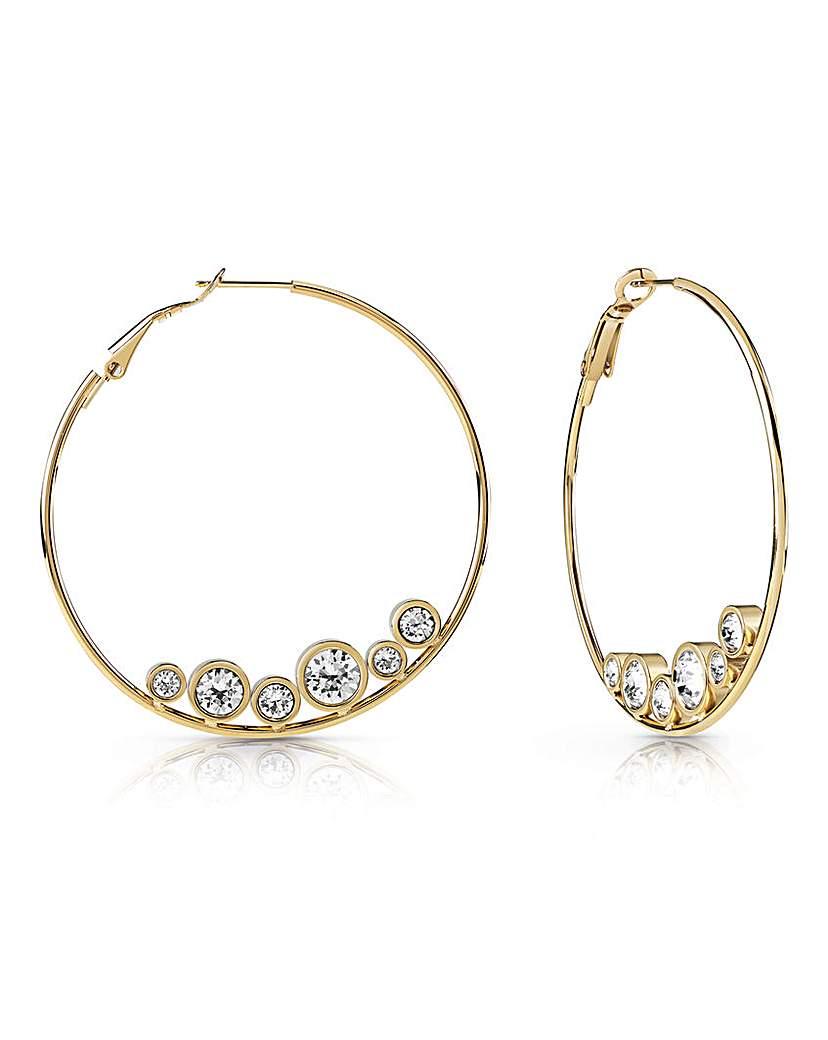 Image of            Guess All Around Hoop Earrings