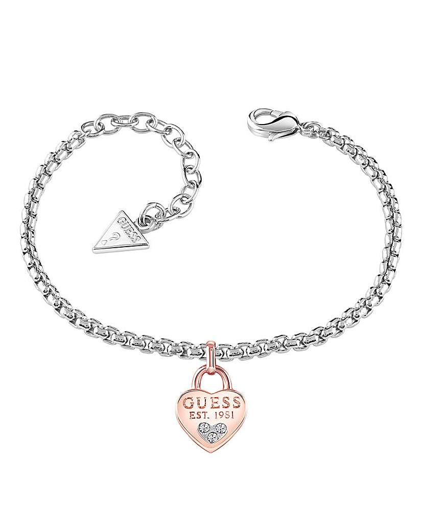 Image of  			   			  			   			  Guess All About Shine Heart Bracelet