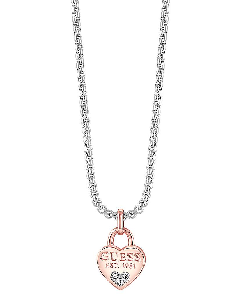 Image of  			   			  			   			  Guess All About Shine Heart Necklace