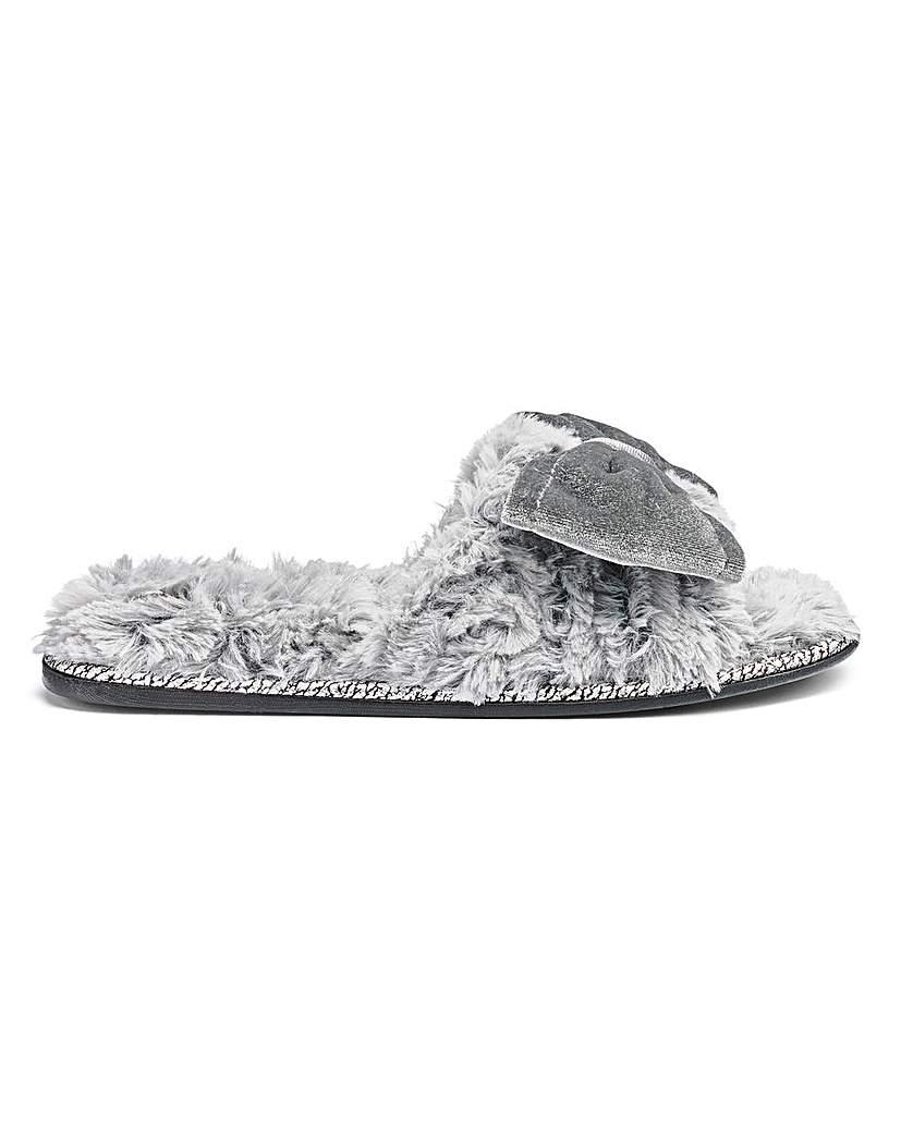 Pretty You Peep Toe Mule Slippers