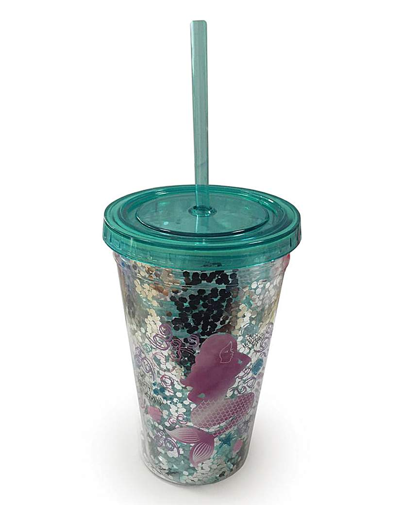 Image of Mermaid Cup with Straw