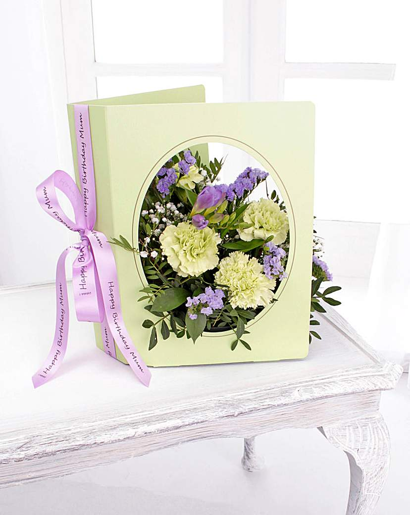 Image of Personalised Floral Greeting Card