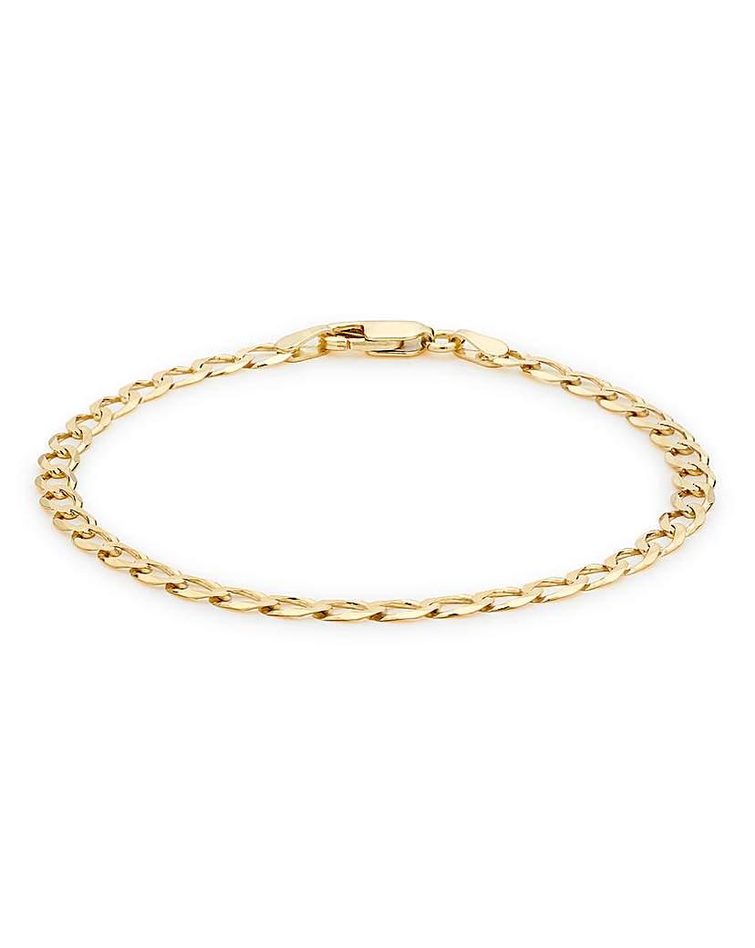 9 Carat Gold Curb Bracelet