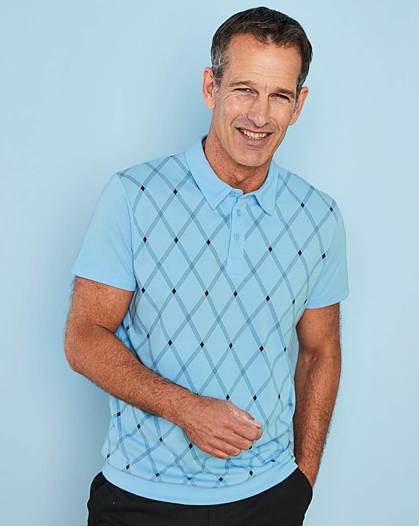 1960s – 70s Mens Shirts- Disco Shirts, Hippie Shirts Premier Man Blue Welted Hem Polo R £10.00 AT vintagedancer.com