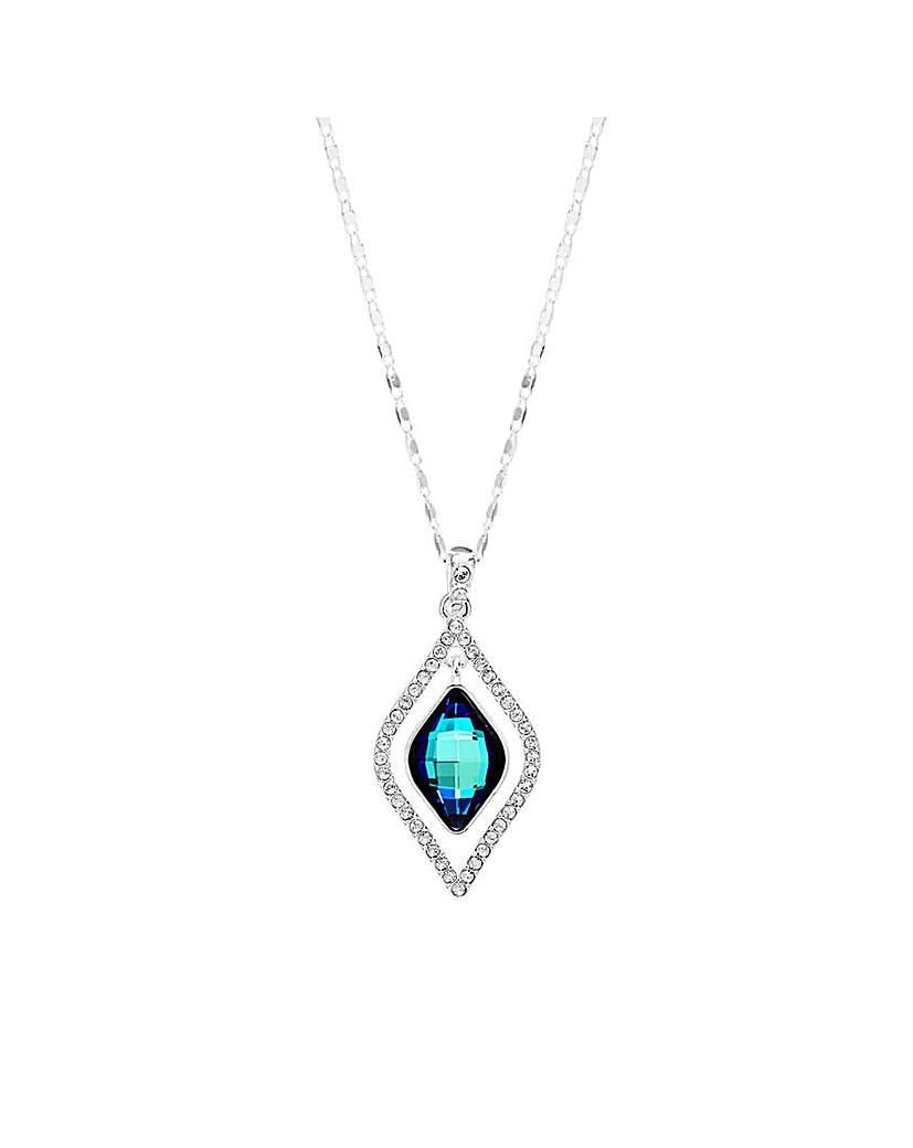 Jon Richard Jon Richard Silver Blue Frame Necklace