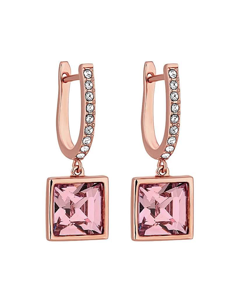 Jon Richard Rose Gold Square Earrings