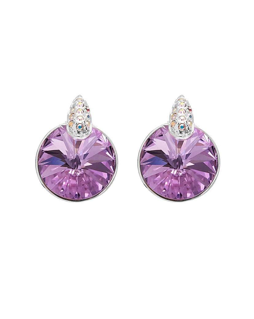 Jon Richard Silver Lilac Stud Earring
