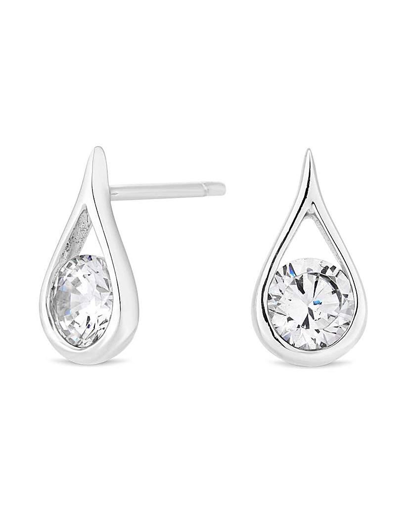 Simply Silver Teardrop Stud Earring