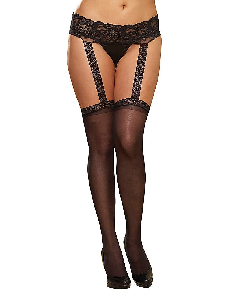 Dreamgirl Sheer Garter Belt Pantyhose