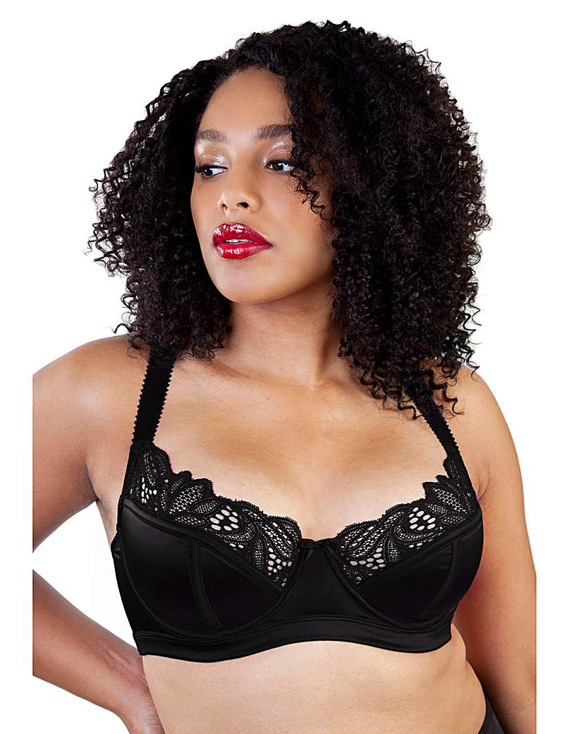 Gabi Fresh Carmen Black Satin & Lace Bra