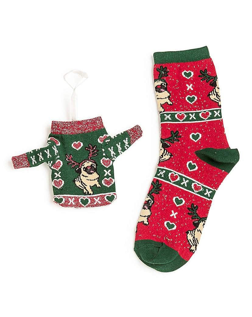 Wildfeet Christmas Jumper Gift Bag Socks