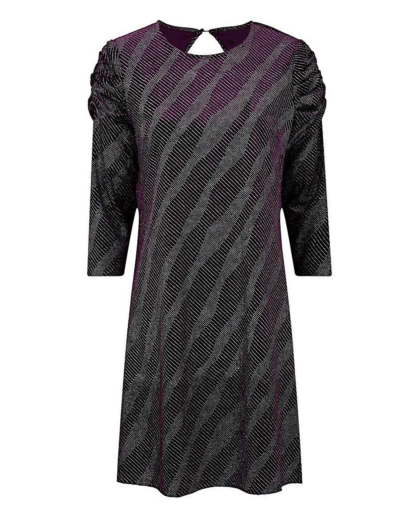 Simply Be Purple Gathered Sleeve Bodycon Dress