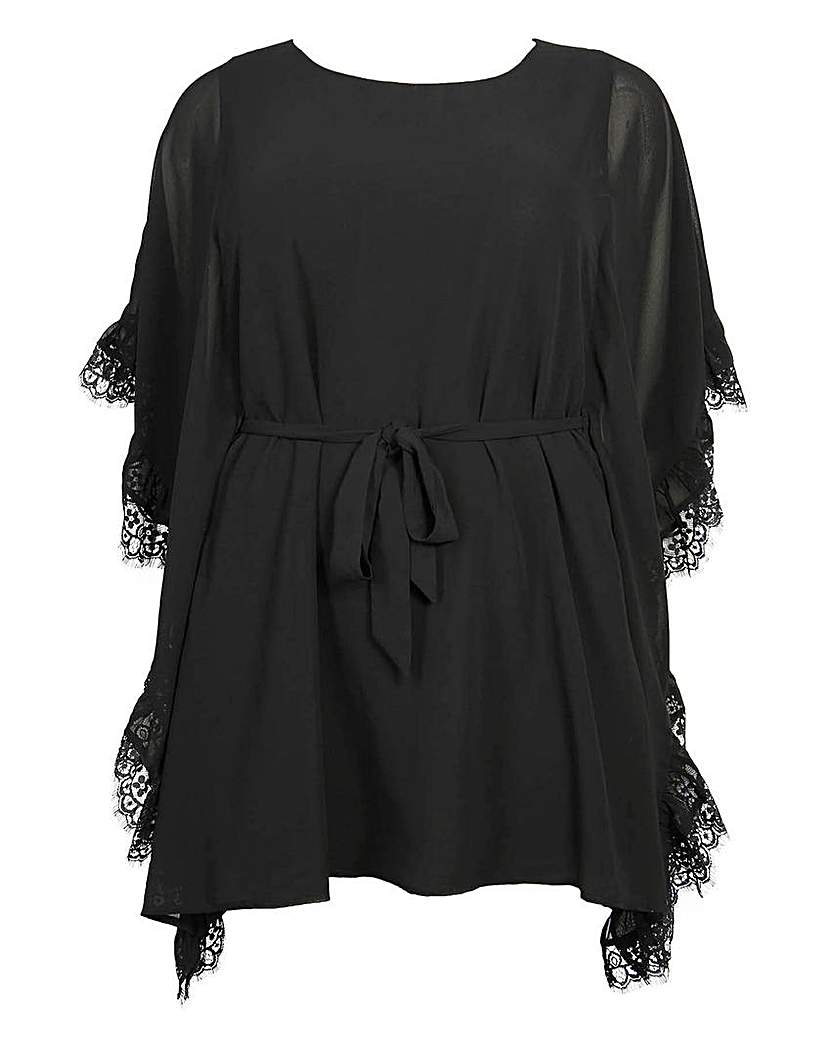 Lovedrobe Belted Kimono Style Dress