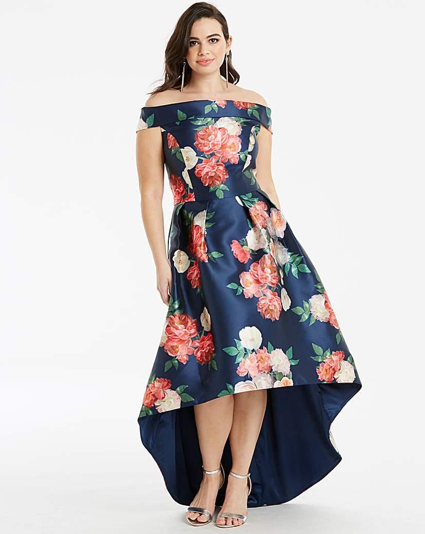 Chi Chi London Chi Chi London Floral Bardot Dress