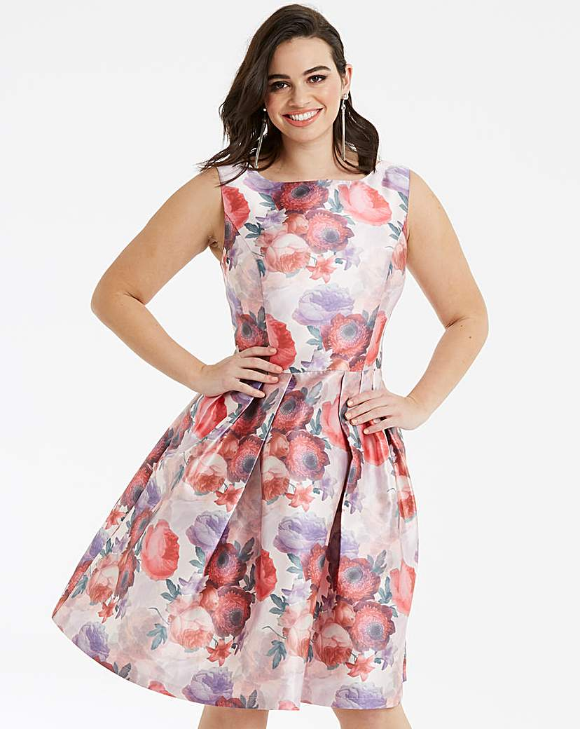 Chi Chi London Floral Fit & Flare Dress