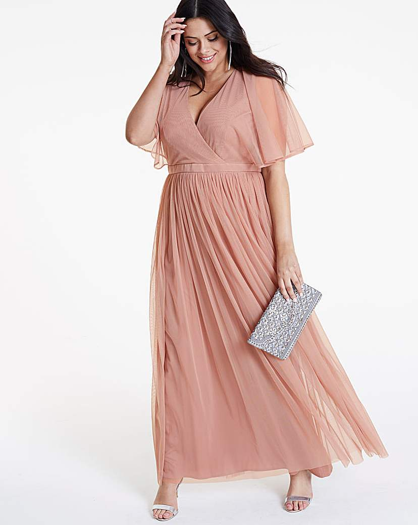 Anaya Kimono sleeve wrap maxi dress