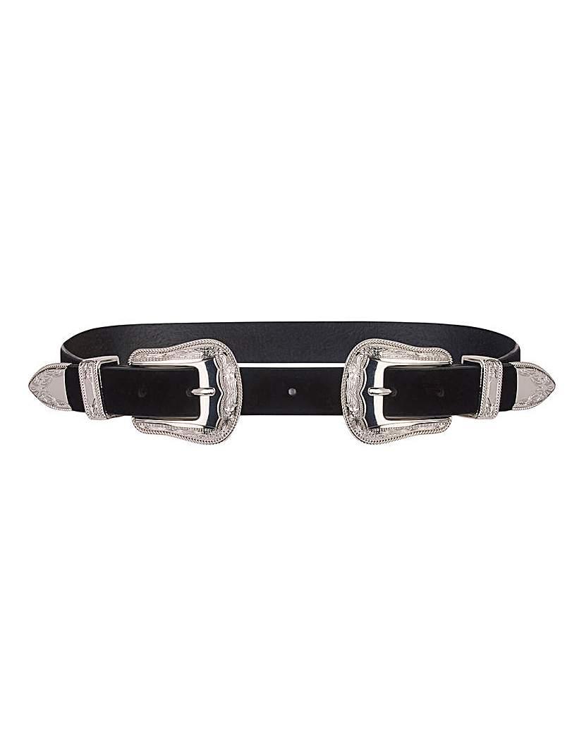 Capsule Double Buckle Western Waist Belt