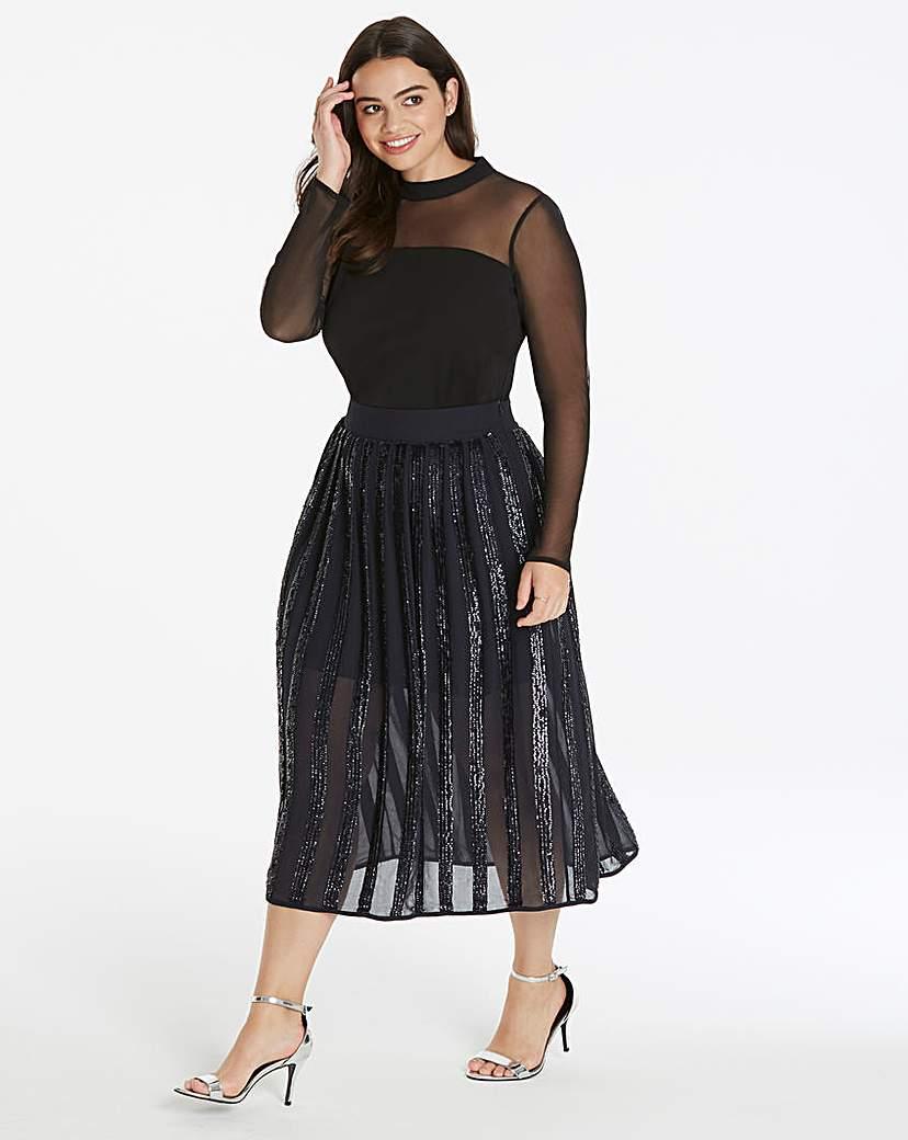 Coast Coast Joey Panelled Sequin Skirt