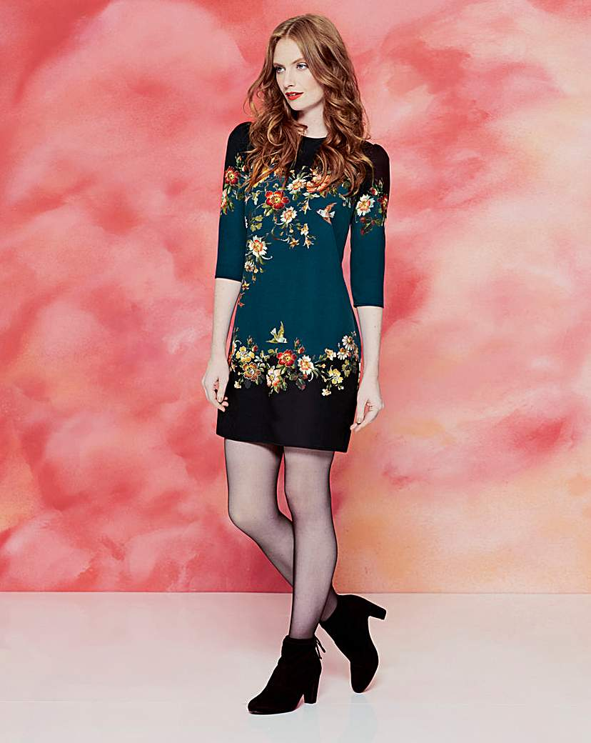 Oasis Curve Rosetti Placement Dress