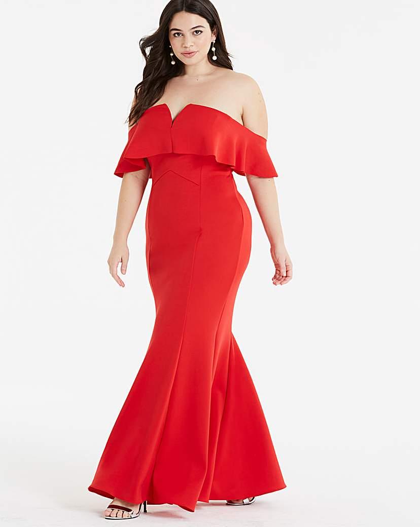 Coast Coast Sade Scuba Maxi Dress