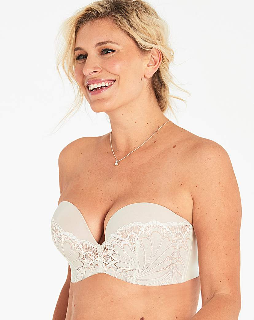 Image of Wonderbra Glamour Lace Ivory Strapless