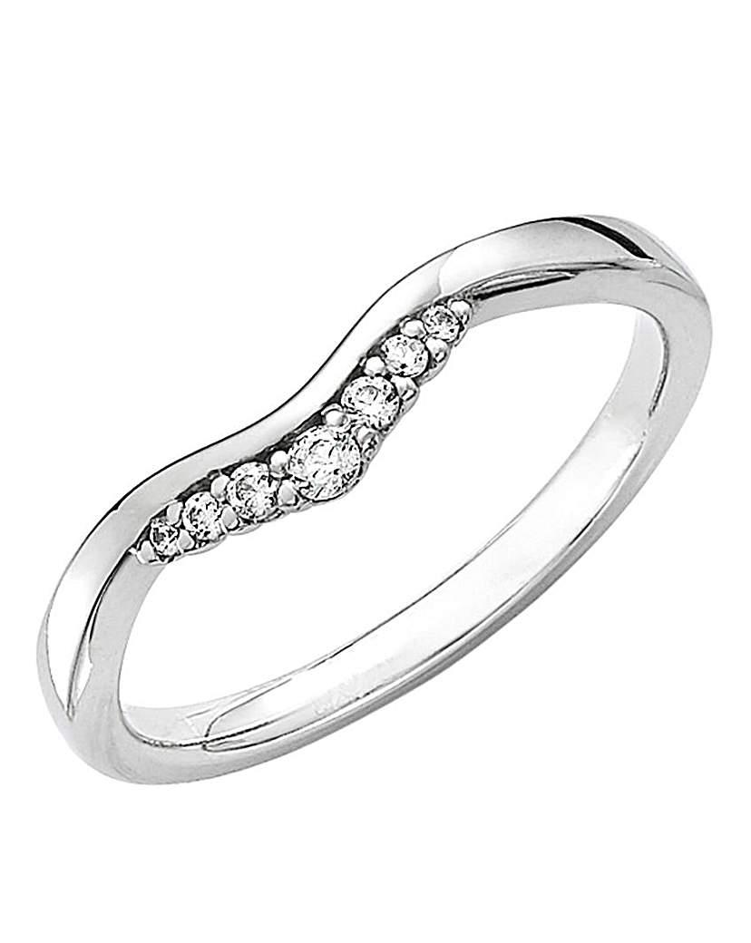 Image of 18 Carat Gold Diamond Tiara Ring