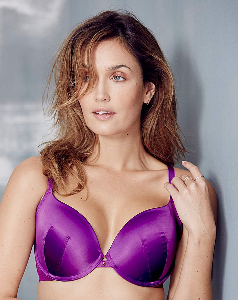 Image of Gossard Everyday Dotty Plunge Purple Bra