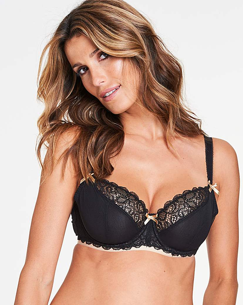 Image of Curvy Kate Ellace Blk/Champ Balcony Bra