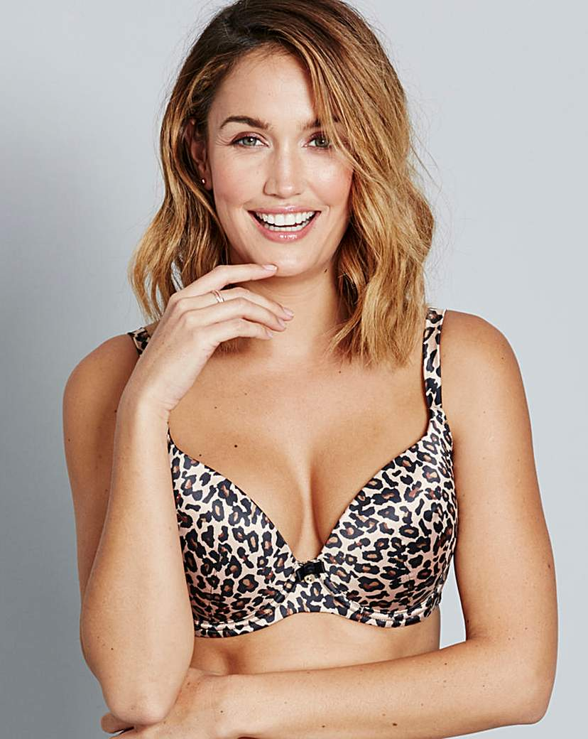 Image of Gossard Animal Print Padded Plunge Bra