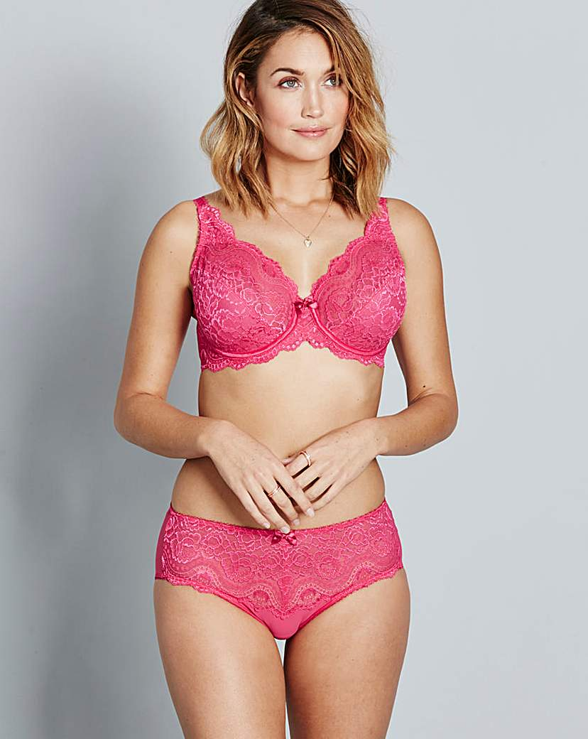 Image of Playtex Flower Lace Bright Pink Bra