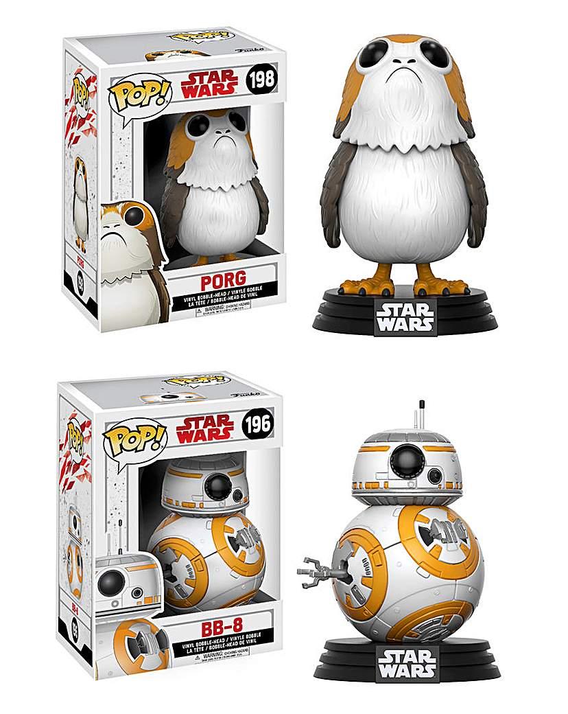 Image of POP! Figure 2pk - Star Wars BB-8 & Porg