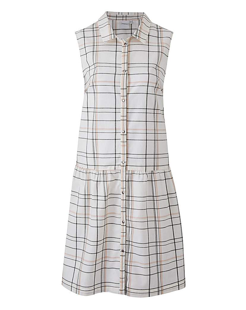 Where to Buy 1920s Dresses Junarose Checked Shirt Dress £19.50 AT vintagedancer.com