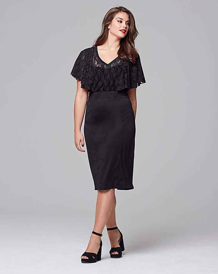 Scarlett & Jo Scarlett & Jo Chevron Lace Front Dress