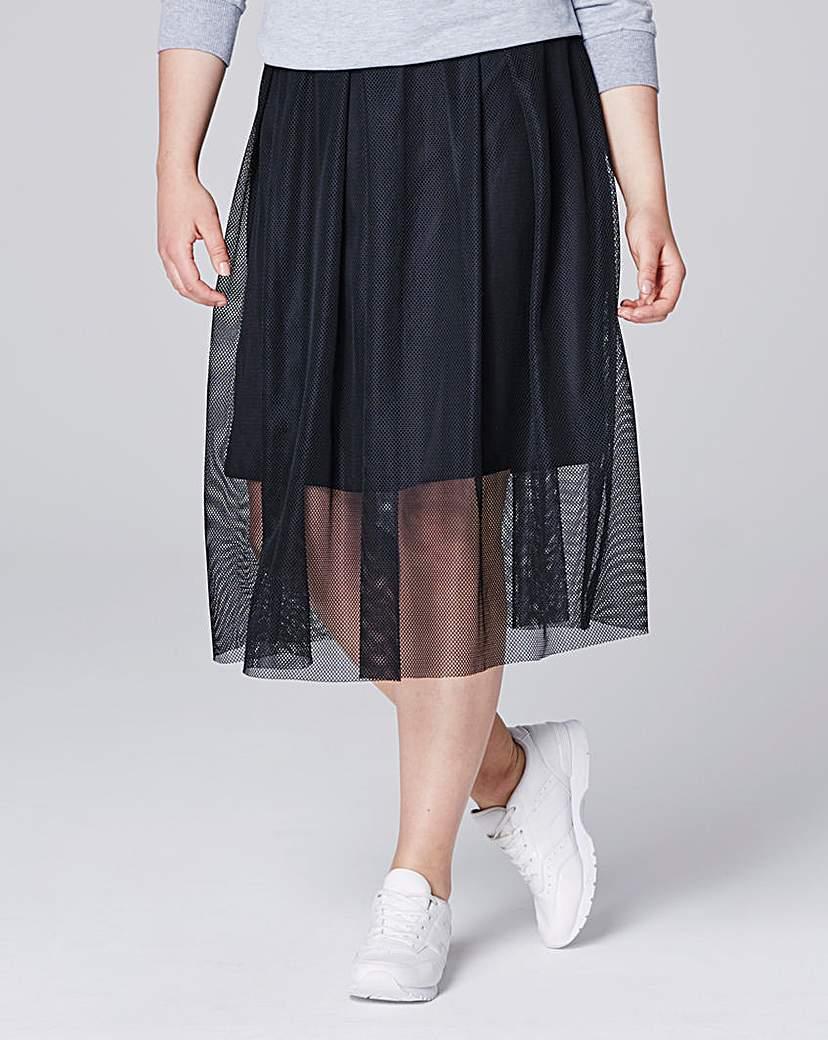 Simply Be Simply Be Mesh Skirt