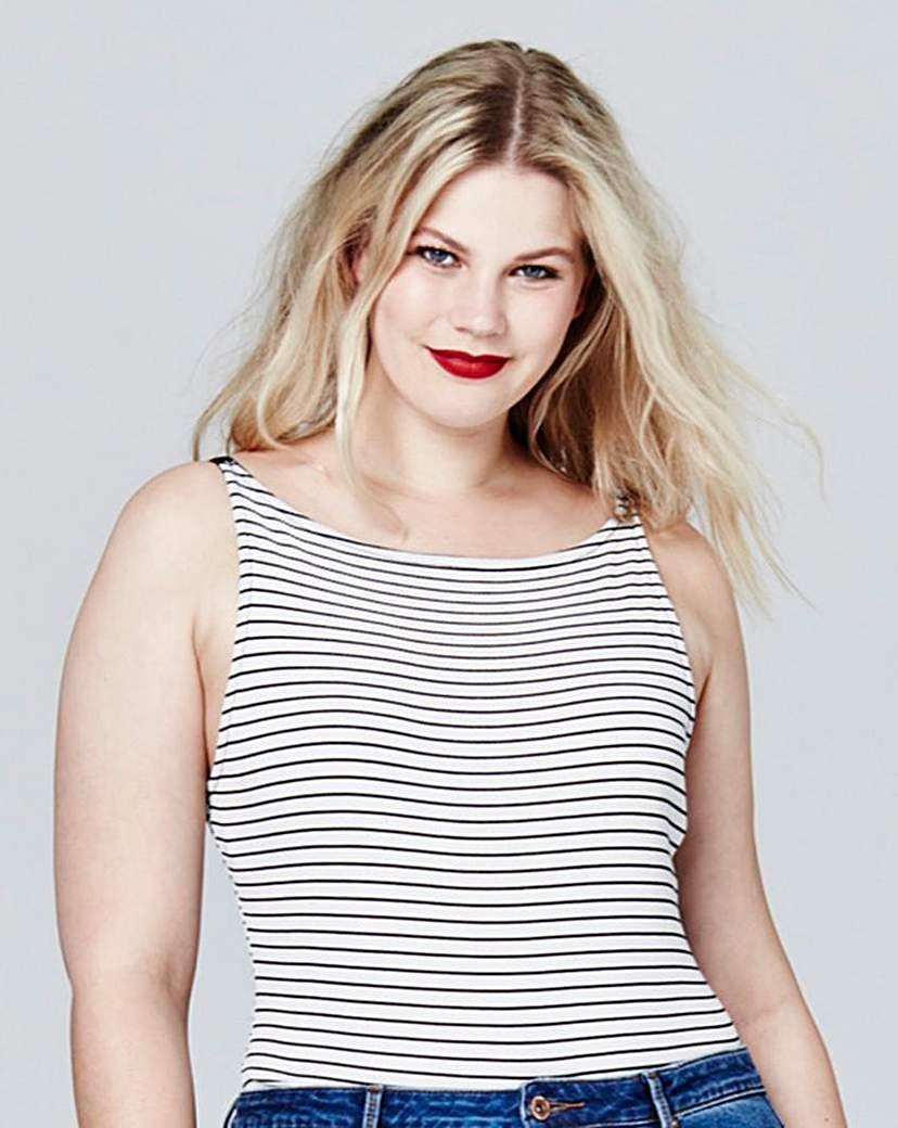 Simply Be Stripe Rib Body