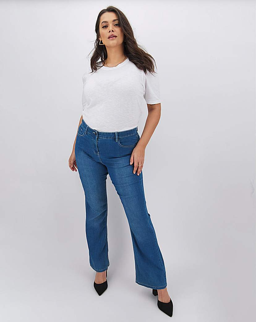 Capsule Kim High Waist Bootcut Jeans Long