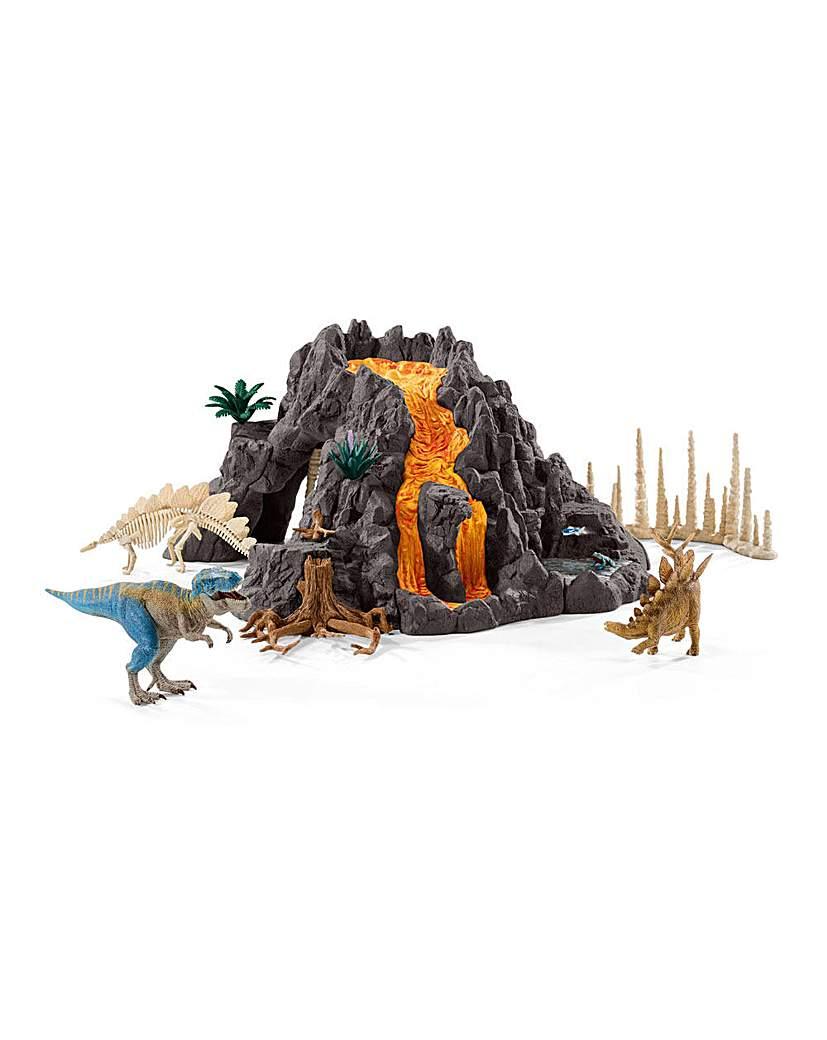 Schleich Volcano and Dinosaur Figures