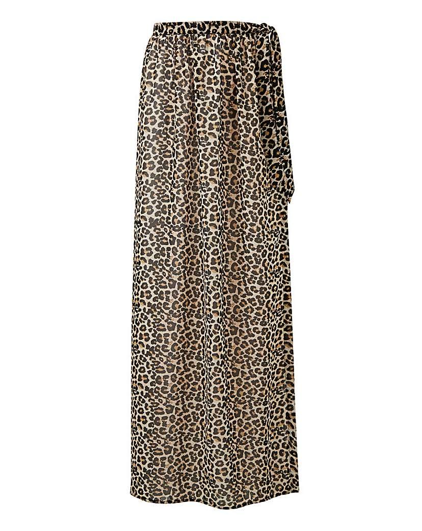 Animal Print Sarong Skirt