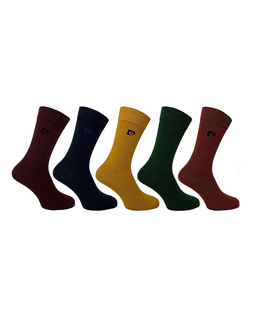 Pierre Cardin 5 Pack Plain Socks