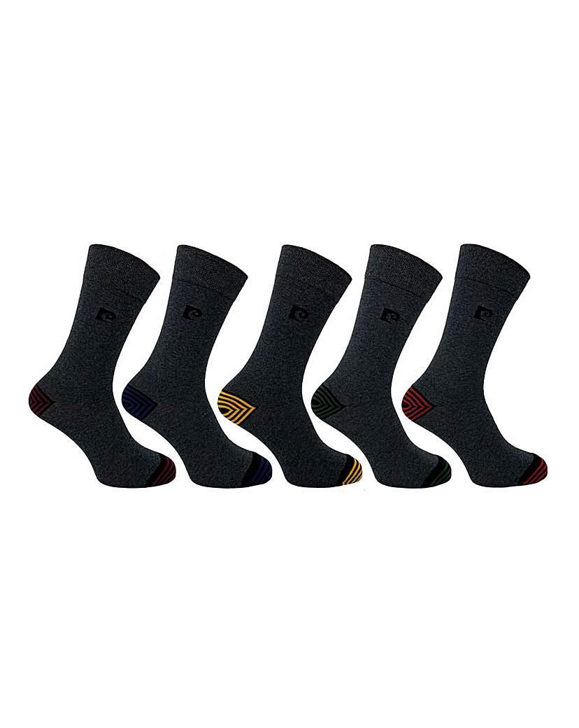 Pierre Cardin 5 Pack Striped Socks