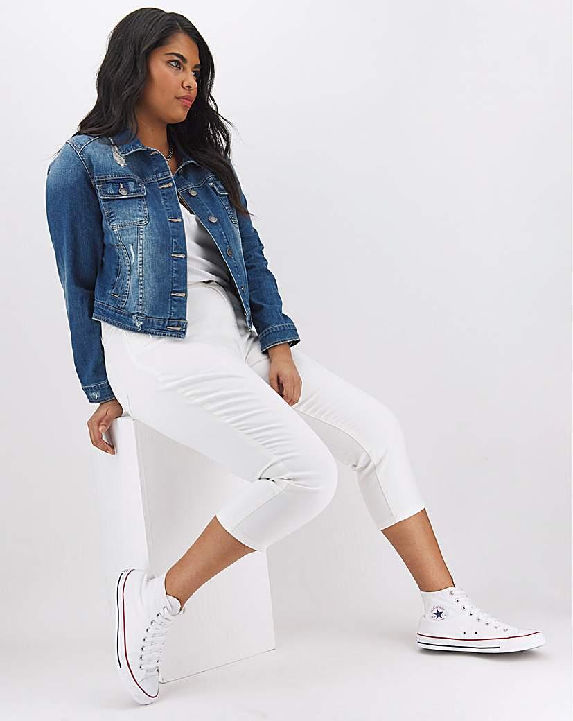 Capsule 24/7 White Crop Jeans