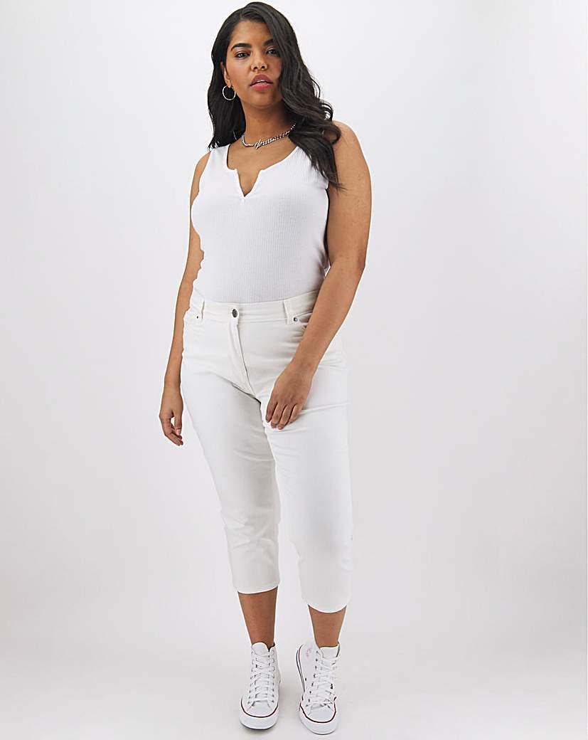 Capsule 24/7 Organic White Crop Jeans
